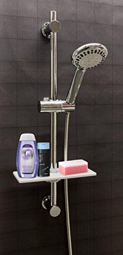 Waterful t190229 mensola universale per asta doccia - Portasapone doccia senza forare ...