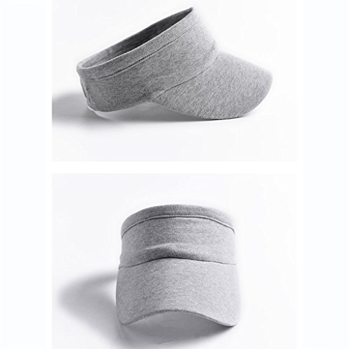 Bao Xing Bei Firm Hut Sommer/weibliche einfarbig leere Kappe/Laufmütze/Baseball Cap/Herren Sonnenblende (Color : Light gray)
