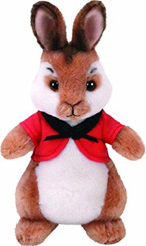 TY 42276TY Flopsy Cape Peter Rabbit Plüsch Hase Boler, Rot