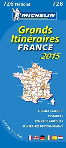 Carte Grands Itinéraires France 2015 Michelin