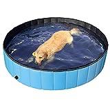 Yaheetech Hundepool Swimmingpool Planschbecken Badewanne Wasserbecken für Hunde 160 x 30cm