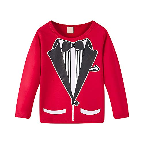 Black Friday Deals Boys clothes,Gifts for boys,Toddler Baby Boys Gentleman Long Sleeve Tops Tie Print T Shirt Clothes Outfits