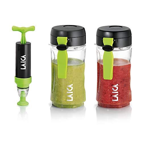 Laica contenitori take away per bevande e alimenti sottovuoto, trasparente/nero, 0.8