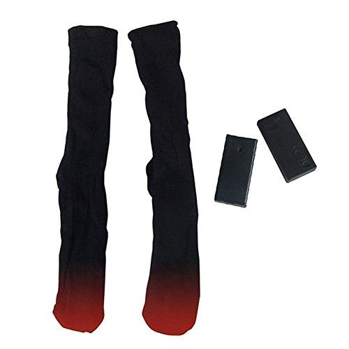 Beheizte Socken Fußwärmer Winter Thermo Socken Dual Schichten Baumwolle batteriebetrieben Erwärmung Socken für Männer und Frauen Einheitsgröße