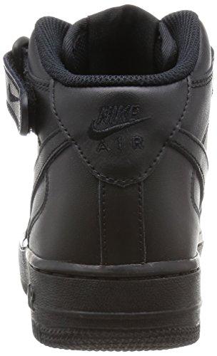 Nike Wmns Air Force 1 Mid '07 Le, sneaker femme Noir - Nero (Black/Black)