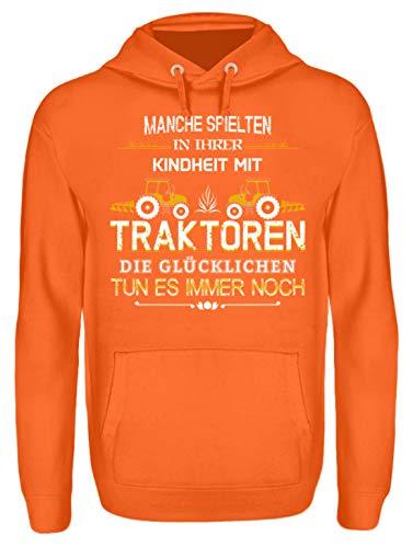 Landwirt Shirt · Landwirtschaft · Feld · Hektar · Traktor · Landwirte · Bauer · Beruf · lustig · Spruch · Pulli · Jacke · Hoodie · T-Shirt · Geschenk - Unisex Kapuzenpullover Hoodie -S-Mandarin Orange - Mandarin Shirt Jacke