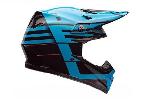 7062866 - Bell Moto-9 Carbon Flex Blocked Motocross Helmet XL Blue