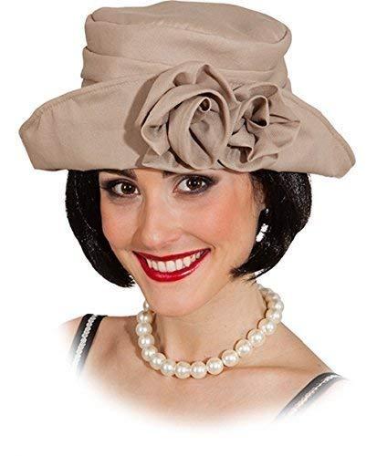 Damen 1920's 20's Beige Blume Tag Am Rennen Blinders Tv Buch Film Kostüm Kleid Outfit ()