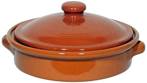 Amazing Cookware Natural Terracotta 25cm Round Dish With Lid