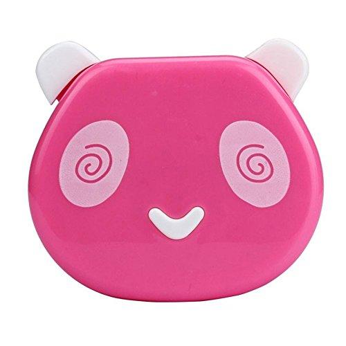aipark Cute Panda Kontakt Lens Case Kit Halter Aufbewahrungsbox mit Spiegel für Gebrauch Zuhause oder auf Reisen (Kontaktlinsenbehälter Bulk)