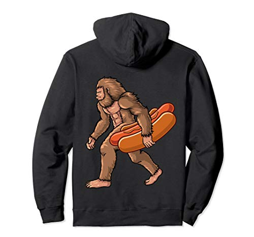Adult Hot Dog Hoodie - Bigfoot Hot Dog Kids Men Apparel