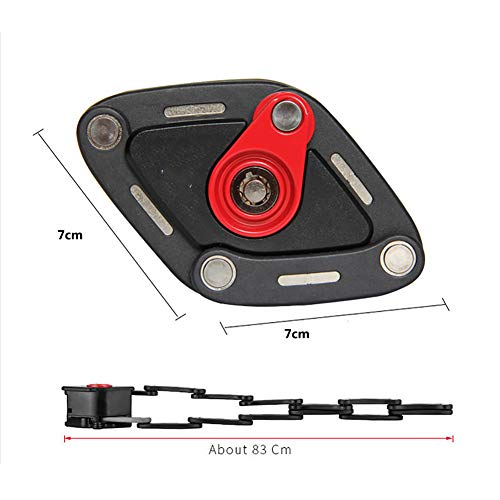 34 * 7cm AWAKMER Universal Plegable Volante del Coche Anti-Robo Seguridad 3 direcciones Bloquear