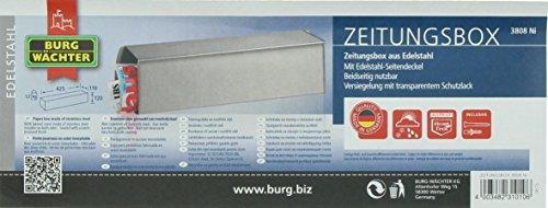 BURG-WÄCHTER, Zeitungsbox mit geprägeter Schrift, Metall, 808 K, Kupfermetallic - 7