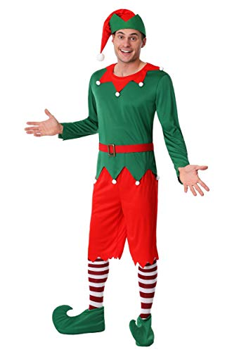 Men's Plus Size Santa's Helper Fancy Dress Costume 2X