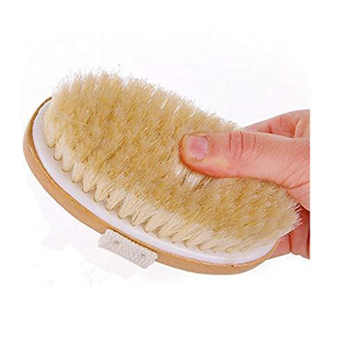 sunnymi Langstielige Badbürste aus Holz Für Duschbürste Boar Borsten Peeling Körper (Braun, 40 * 6.5cm) -