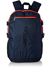 United Colors of Benetton 22 Ltrs Blue Casual Backpack (16A6BAGT7003I)