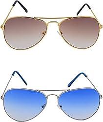 Shoaga Mens Aviator Sunglasses (Brown)