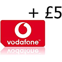 NEW Vodafone Pay As You Go Triple Cut Sim Card (Standard, Micro & Nano Size) With £5 Credit Preloaded Delivered by Signed For Delivery