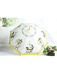 Paraguas Plegables Creativo Pequeño Cordón Fresco Transparente Paraguas Princesa Fan Dios Paraguas Unisex Original