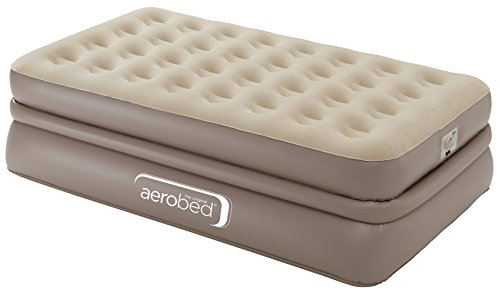 AeroBed Unisex Luxury Collection Raised Airbed, Beige, Single