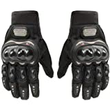 Probiker Synthetic Leather Motorcycle Gloves (Black, XL)