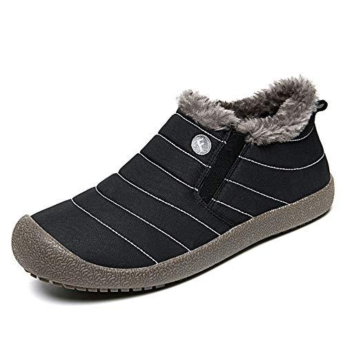 Manadlian Bottes de Neige Homme Chaussures Trekking Randonnée Bottes & Bottines Classiques Hiver Imperméable Outdoor Boots avec Doublure Sneakers 39-48