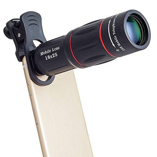 Profi Tele Objektiv mit 18-Fach Vergrößerung für iPhone, Smartphone Zubehör für Film und Foto