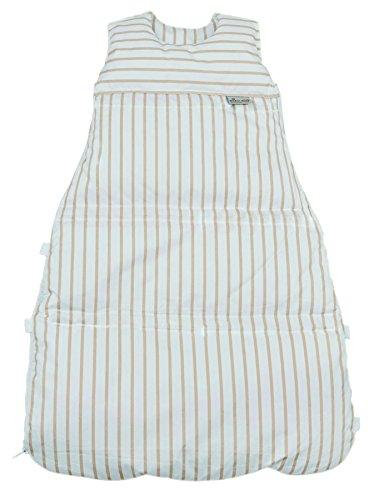 Climarelle Daunenschlafsack, längenverstellbar, Alterskl. ca 3-20 Monate, Streifen weiss-ocker, 80 cm