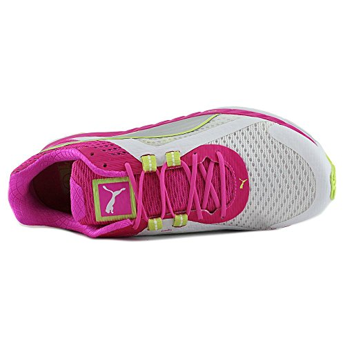 Puma Womens Speed 500 Ignite Running Shoes  White Pink Glo Silver  9 5