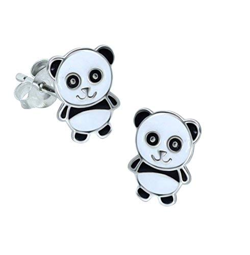 Panda Ohrringe aus Sterling Silber