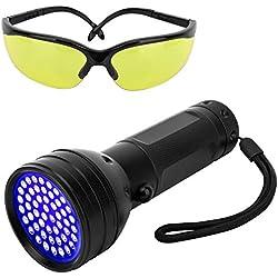 Pawaboo Linterna Ultravioleta + Gafas UV incluidas