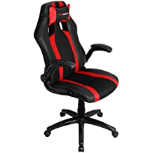 Mars Gaming MGC2BR - Silla gaming profesional con ruedas, inclinación 15 grados y altura regulables