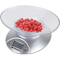 Orbegozo PC1009 - Báscula electrónica para cocina, bol transparente, máximo 3 kgs, ...