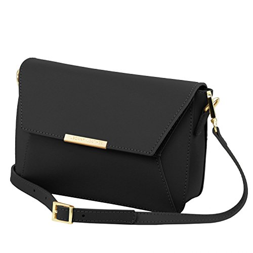 Tuscany Leather TL Bag Pochette in pelle Nude Nero