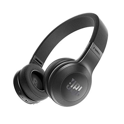 JBL E45BT - Cuffie supra-aurali wireless Bluetooth On Ear, pieghevoli con Microfono e prestazioni PureBass, Nero