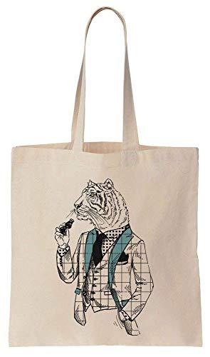 uxedo And Binoculars Cotton Canvas Tote Bag ()