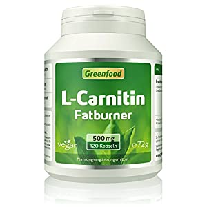 L-Carnitin, 500 mg, hochdosiert, Vegi-Kapseln – der König der Fatburner. Gewonnen durch Fermentation. OHNE künstliche Zusätze. Ohne Gentechnik. Vegan.