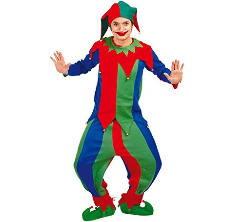 Kinder Hofnarr Kostüm - Narr - Kostüm f. Herren Karneval Fasching Hoffnarr Mittelalter Spaß Freude Gr. M - L, Größe:M
