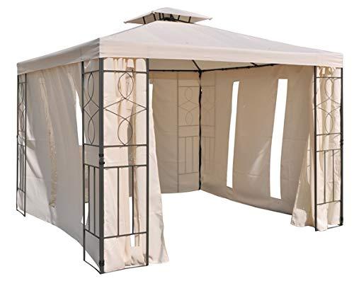 habeig Pavillon Seitenteile BEIGE - 2 mit Fenster & 2 mit Reißverschluß Pavillion