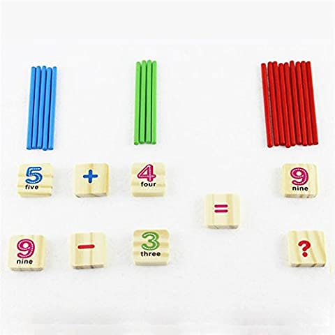Purposefull Wooden Learning Toys for Children - Numbers and Mathematics Set - Educational Aid for Basic Counting