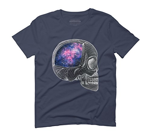 Galactic Neurons Men's Graphic T-Shirt - Design By Humans Navy