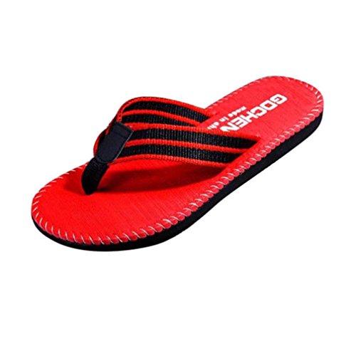 Honestyi SandalenMänner Sommer Flip Flops Schuhe Sandalen Männlichen Slipper Hauss Strand Hausschuhe Flache Mode Schuhe Leder Flach Boden Hausschuhe Bequeme Schuhe (41, - Spitze Männliche Thong