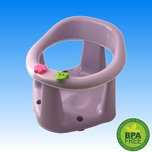 6 bis 15 Monaten - Baby Kinder Badering Badesitz Kinder Badewannensitz Badewanne Sitz Wanne (Lila)