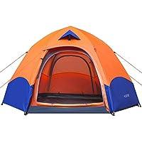 Tente Camping HOSPORT Tent Pop Up Instantanées Tente 3-4 Personnes Imperméable Anti-UV Tente Dôme Festival Double Couches Tentes Idéal pour Familles Randonnée