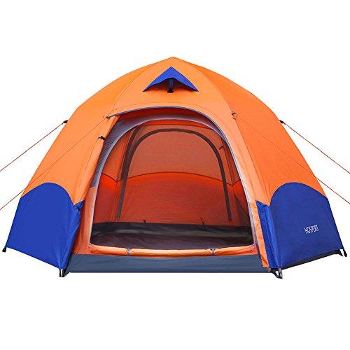 Zelt 3 4 Person HOSPORT Zelt Camping Wasserdicht Pop-Up Familienzelt 3-4 Personen Automatik Kuppelzelt Outdoor Schnellaufbau Trekkingzelt