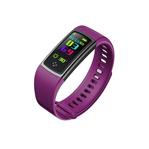 WMWMY S9 Smart Herzfrequenz Herzfrequenz Pulsoximeter Sport Sauerstoff Armband Smart Watch Ios Smart Android, Violett