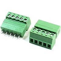 Generic Conector terminal de 5pin Tipo bloque de terminales del tornillo del conector de la echada de 300V 5.08m m