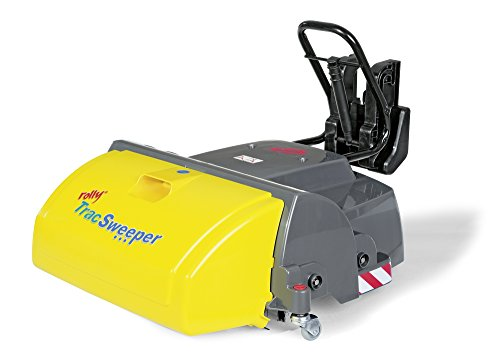 *Rolly Toys 409709 Kehrmaschine Trac Sweeper; passend für Fahrzeuge mit Frontanhängekupplung; integrierter Auffangbehälter (geeignet für Kinder ab 3 Jahren; Farbe Gelb/Grau)*