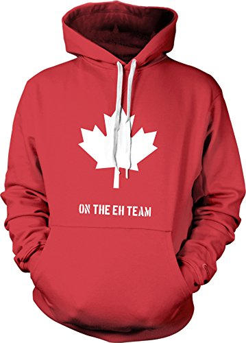 Crazy Dog TShirts - Eh Team Canada Sweater Funny Canadian Shirts Novelty Sweaters Hilarious Hoodie (Red) S - herren - S (Herren Red Dog)