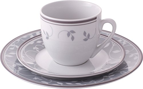 Gepolana Kaffeeservice 18-tlg. Porzellan Granit